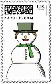 This happy blonde <b>snow woman stamp</b> will be a fun addition to any Christmas card motif. Simple and inviting.