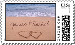 Personalized wedding postage custom wedding stamps for Post office design your own stamps